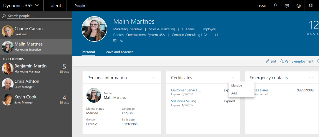 certificates manage add