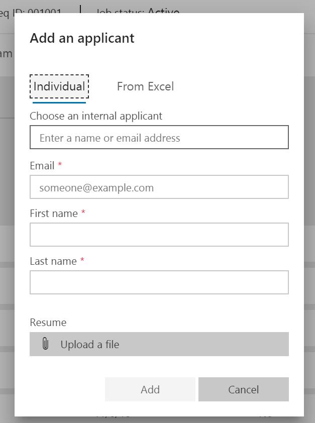 Add applicant - individual