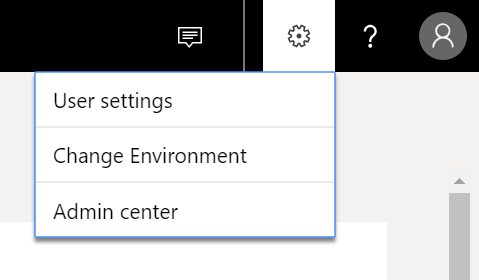 Settings - Admin center