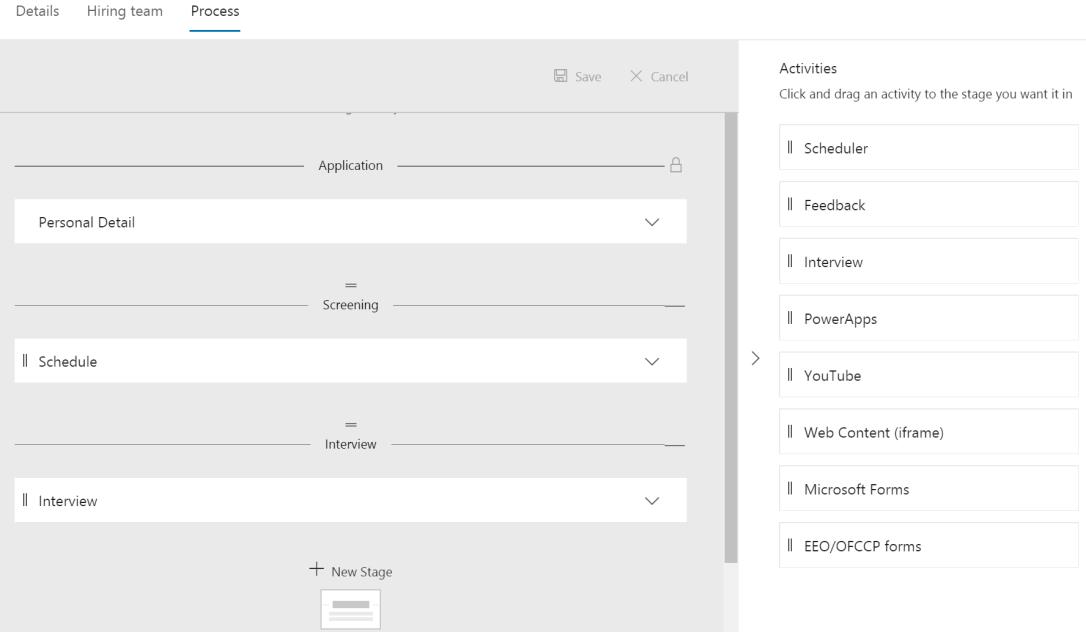 Job settings process
