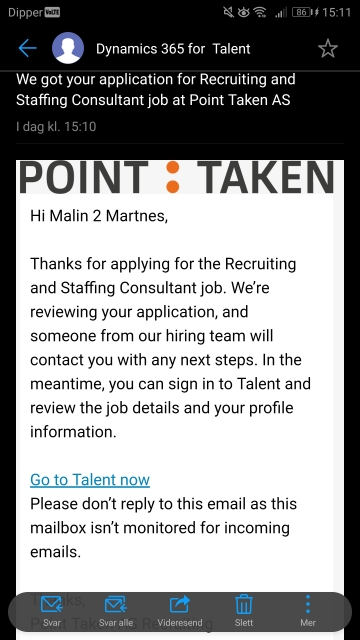 Applicant mail