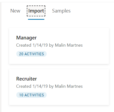 Import from other onboarding templates
