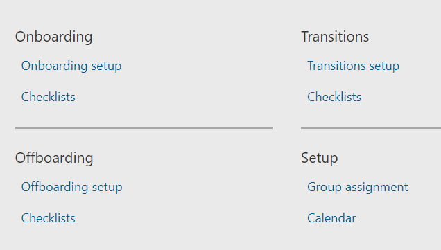 The setup for checklists