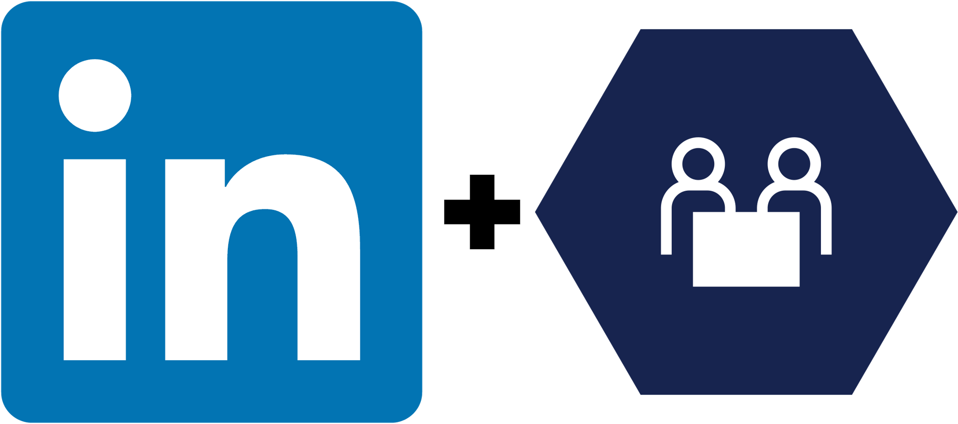 LinkedIn logo + Dynamics 365 for Talent logo