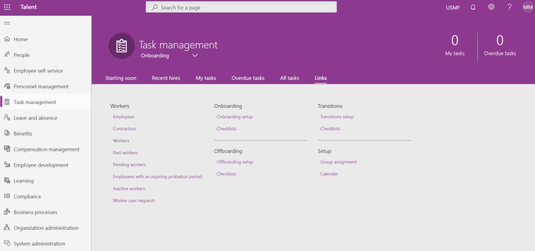 Task management - links