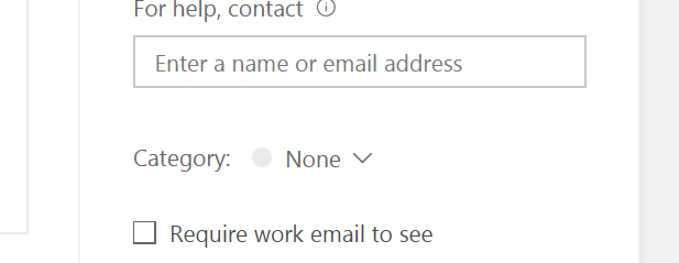 Require work email to see activity