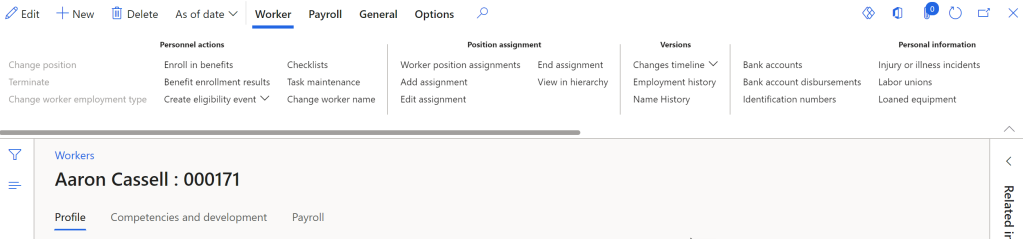 Picture of the worker record
